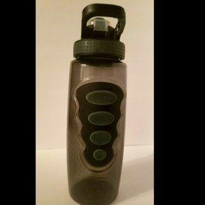 Cool Gear Water Bottle, BPA Free, 32 Oz Black/Gray